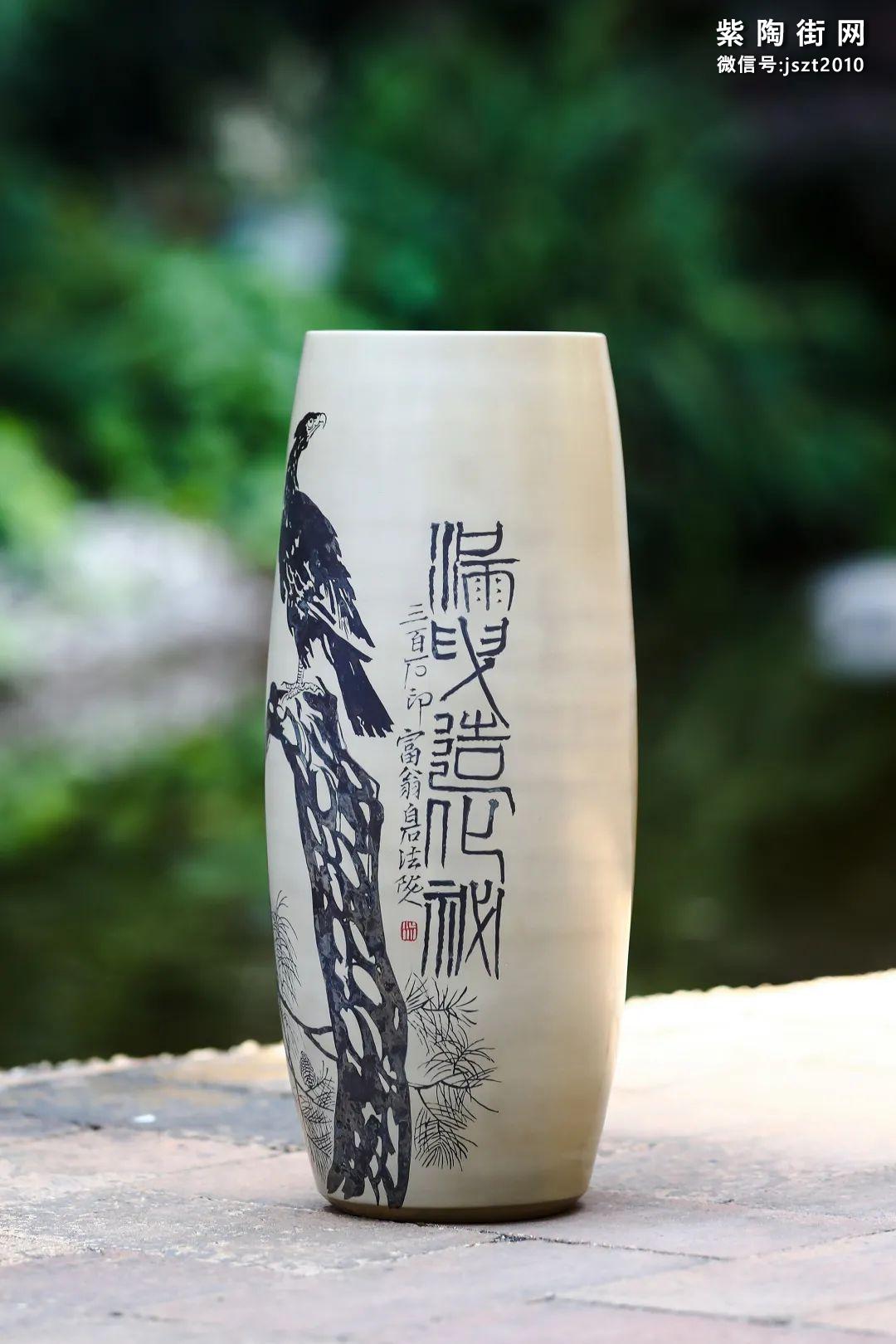 建水紫陶花瓶雅赏插图23