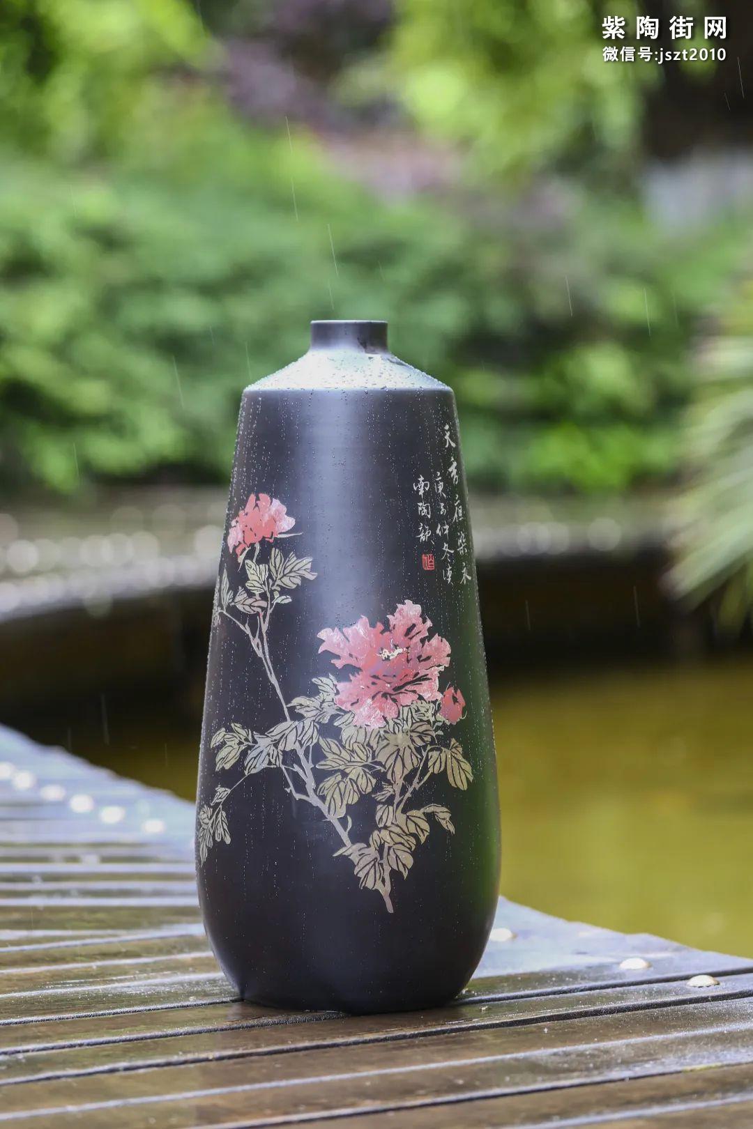 建水紫陶花瓶雅赏插图2
