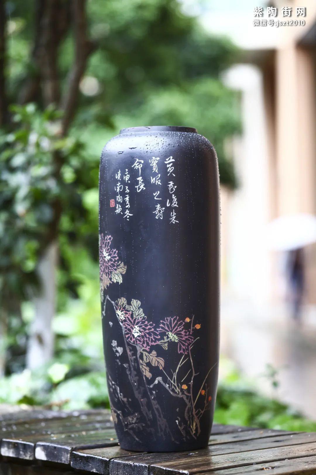 建水紫陶花瓶雅赏插图4