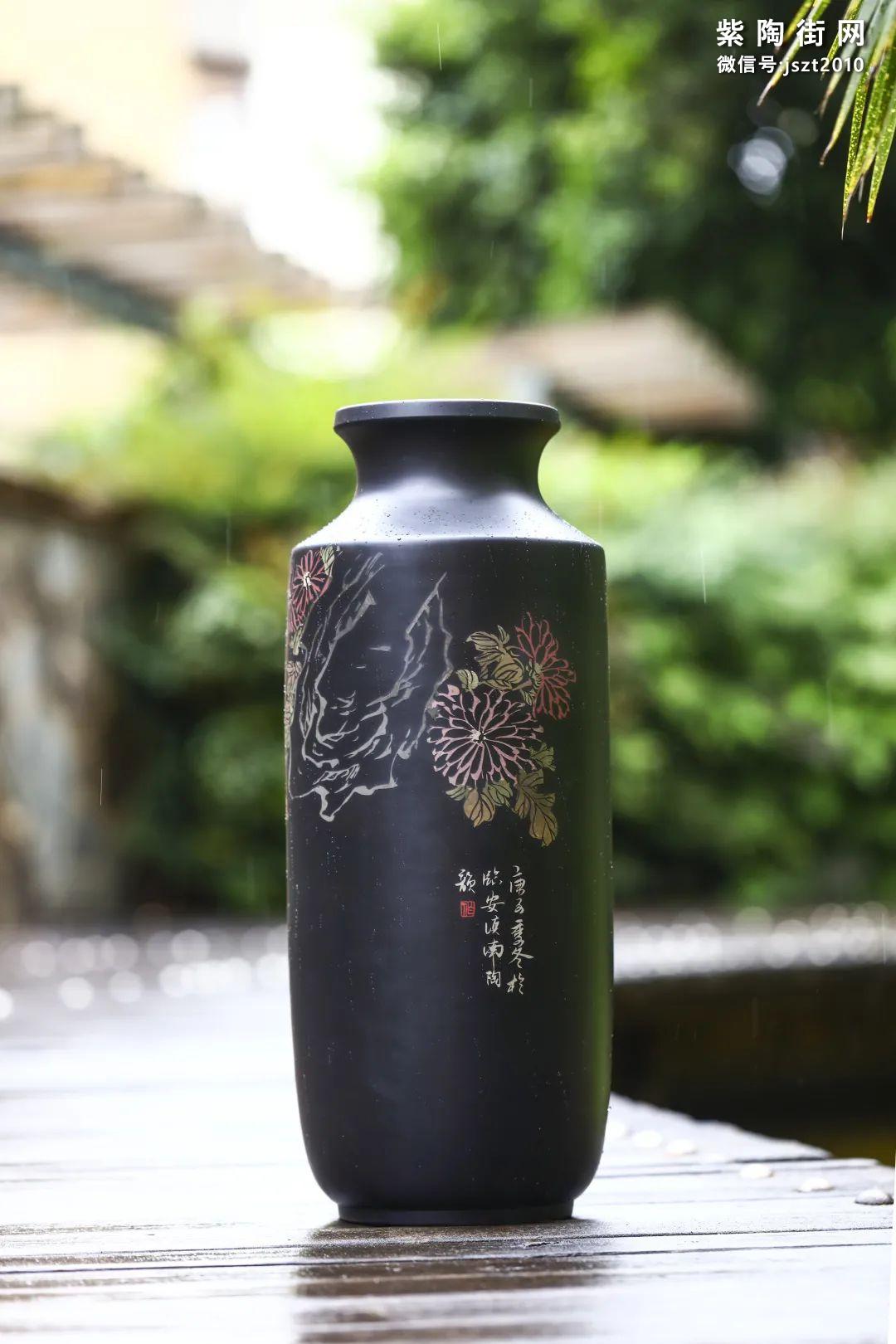 建水紫陶花瓶雅赏插图11