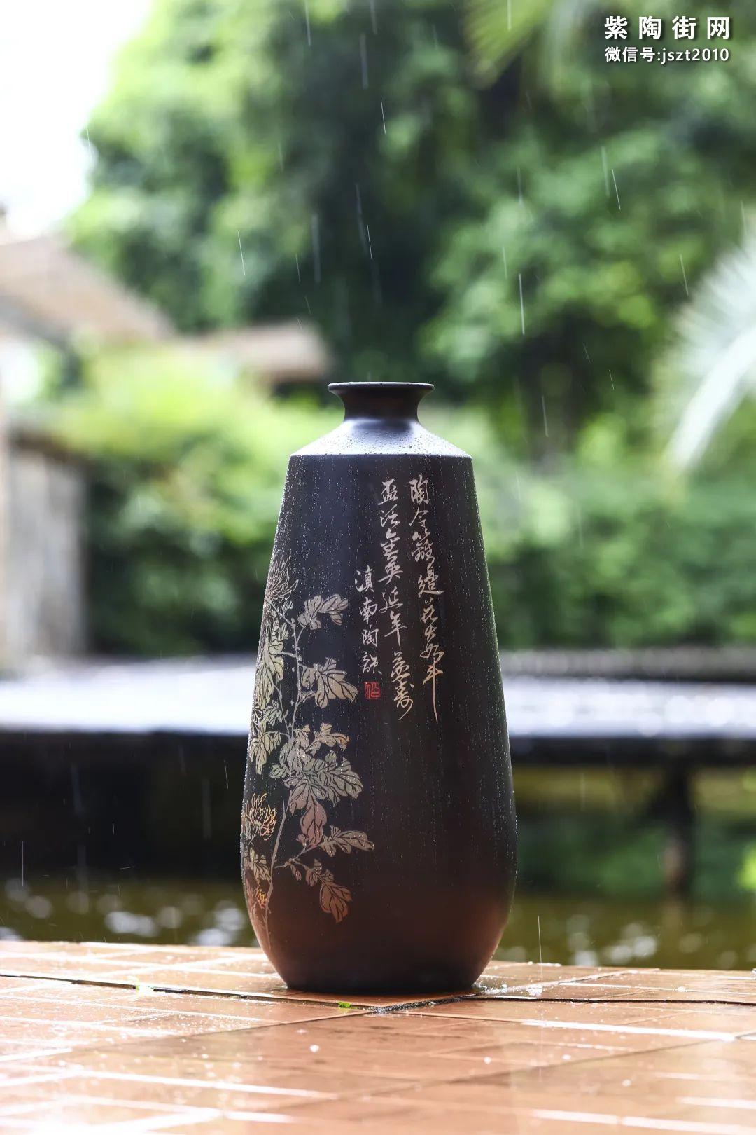 建水紫陶花瓶雅赏插图7