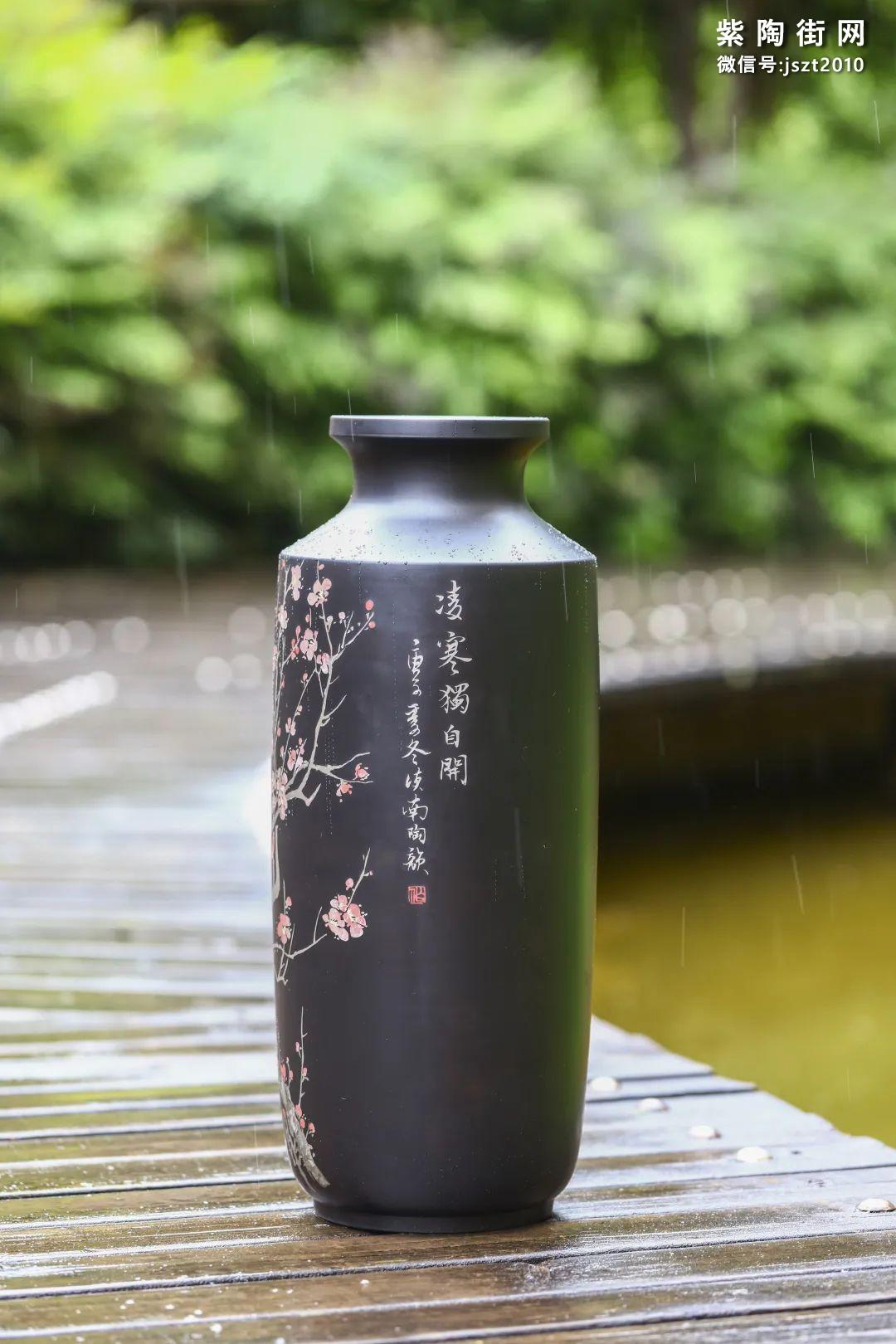 建水紫陶花瓶雅赏插图1