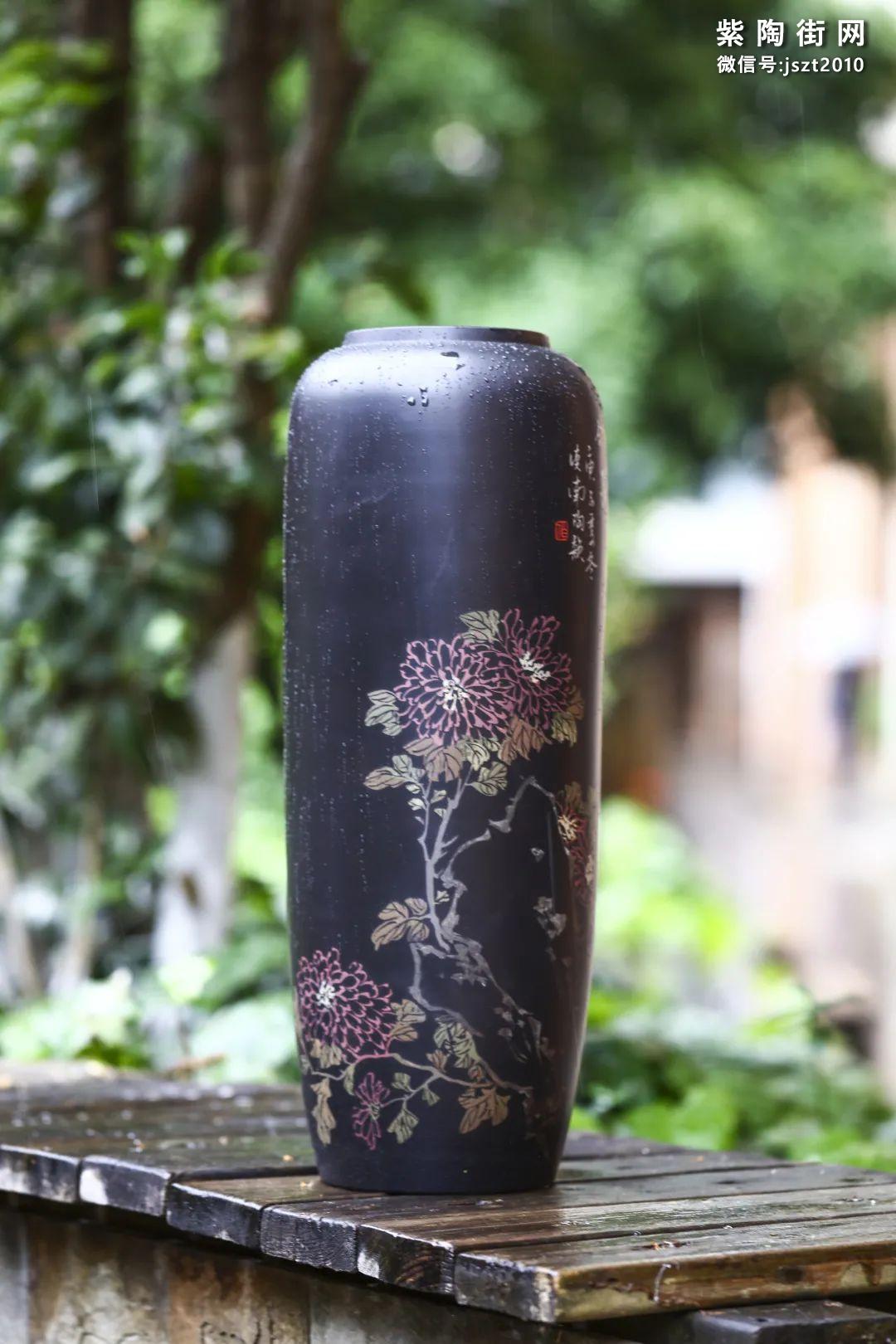 建水紫陶花瓶雅赏插图5